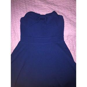 Forever 21 strapless bow dress navy blue 💙👗